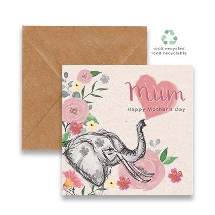 Elephant in Flowers mum
