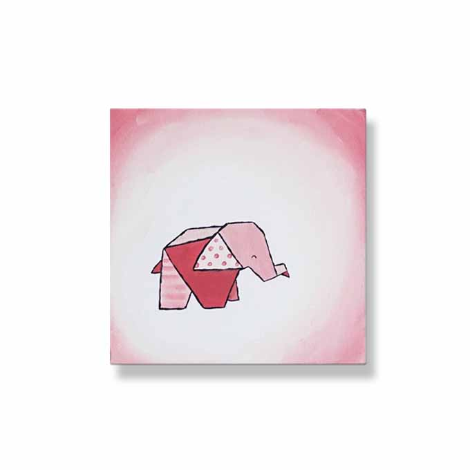 Ombre Origami Elephant | Pinks