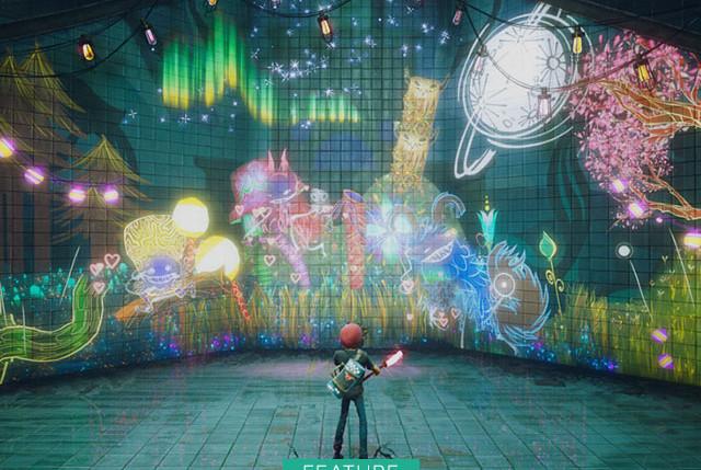 Behind the Screens - Concrete Genie Wall Art