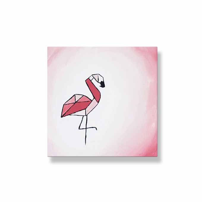 Ombre Origami Flamingo | Pinks