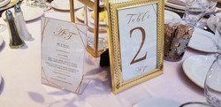 Table Numbers & Menu