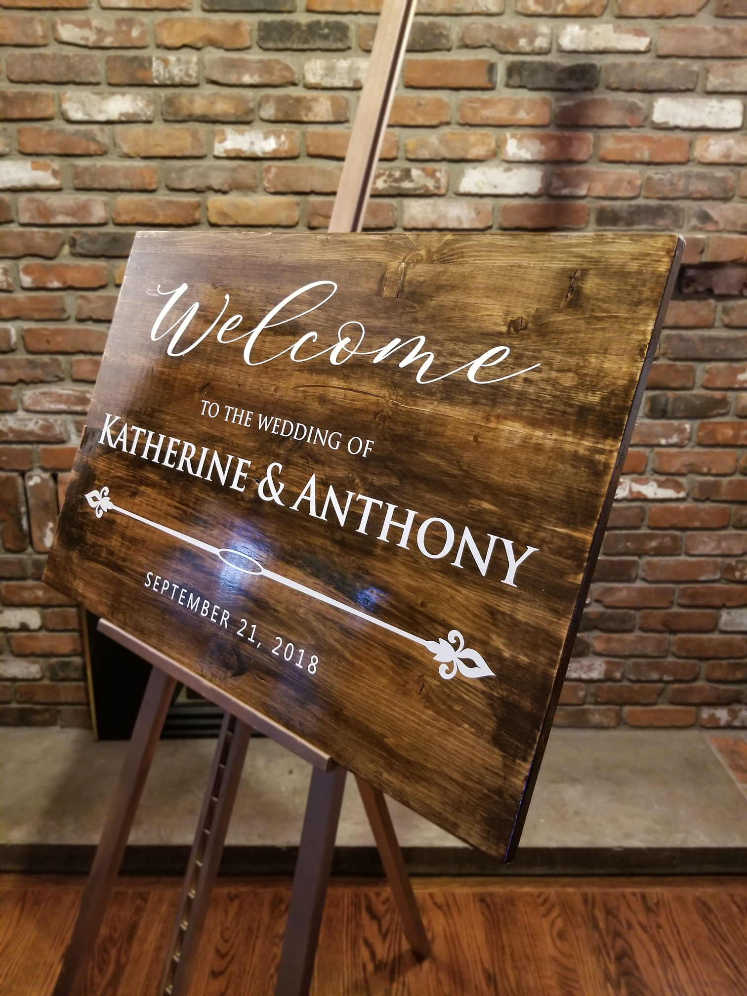 Stained Wood Sign