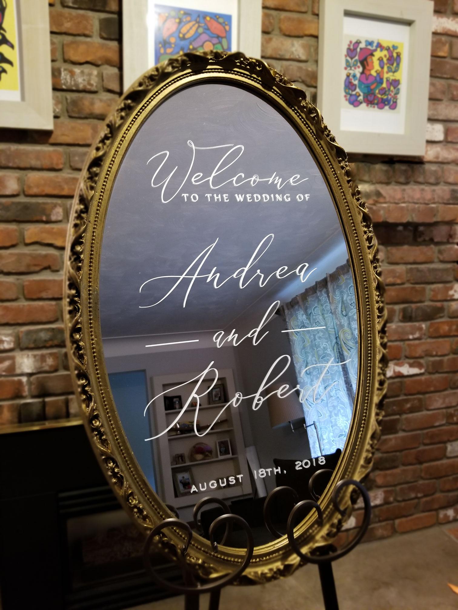 Custom Mirror Sign
