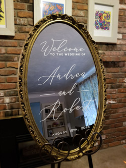 Custom Mirror Sign