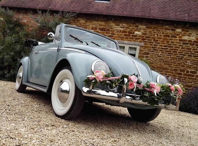 VW classic wedding cars convertible 1958 beetle