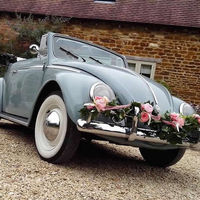 vw classic wedding cars convertile beetle 1958