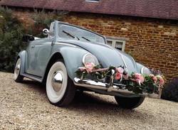 VW classic wedding cars convertible 1958 beetle