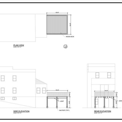 Permit Drawing - Deck Plan