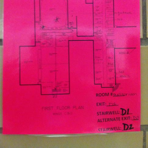 School Fire Evac Plan - Before