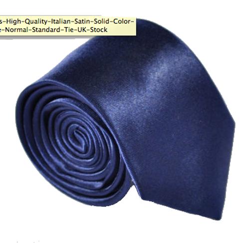 Navy Satin Show Tie