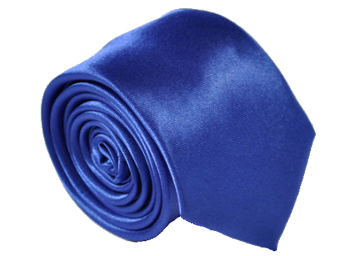 Royal Blue Satin Show Tie
