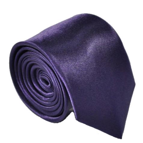 Purple Satin Show Tie