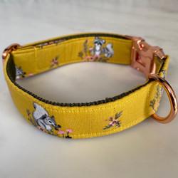 Mustard Yellow dog collar