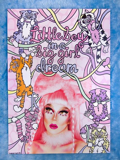 Little Boy in a Big Girl Dream Poster