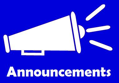 Announcements March 1-5
