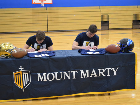 Payton and Charlie sign to play Football at Mount Marty
