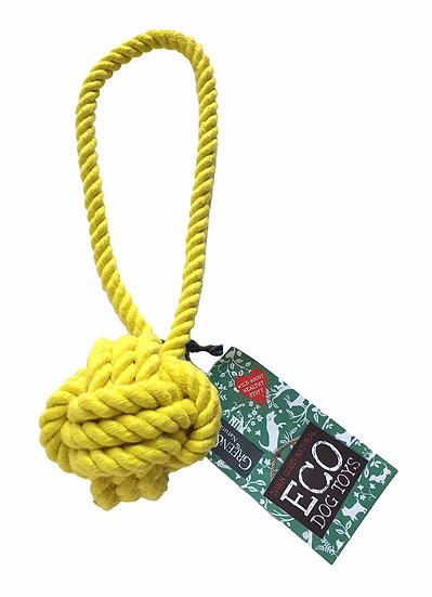 Sustainable Rope Ball Dog Toy