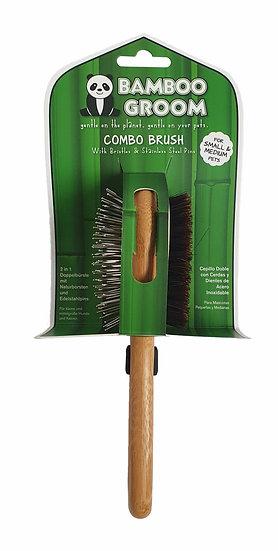 Bamboo Groom Combo Dog Brush