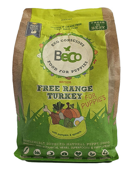 Beco Sustainable Free-Range Turkey Dry Puppy Food