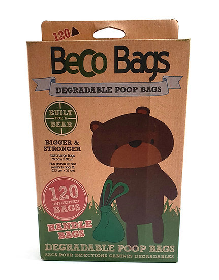 Beco Unscented Biodegradable Poo Bags with Handles