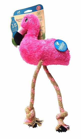 Beco Recycled Soft Flamingo Toy