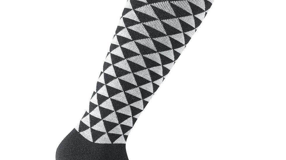 Skisocken Freestyle Triangle, Schwarz