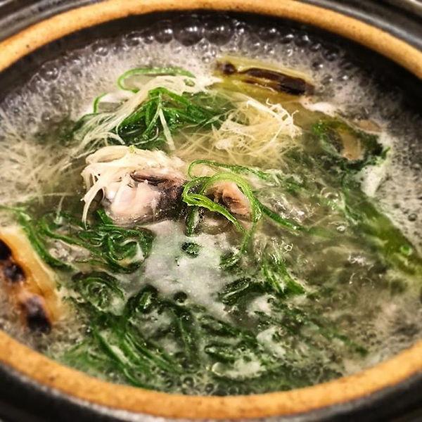 すっぽんのスープ__今回は前回よりもコラーゲン多め、唇ペッタペタのスープです。_