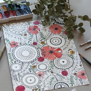 Mandalas flowers_