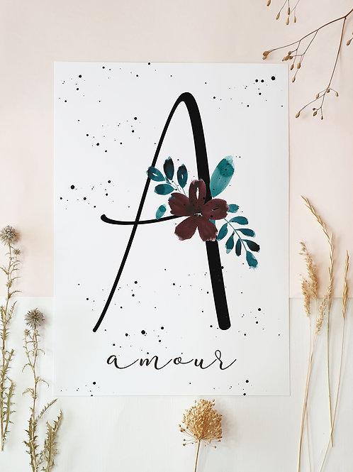 Flowery alphabet.