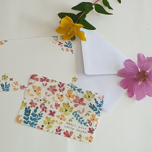 Carte à planter colorful flowers.