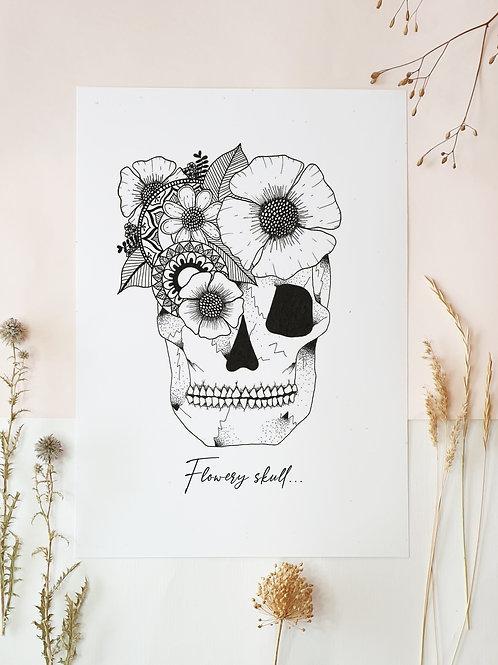 Flowery skull.
