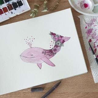 Baleine fleuris_