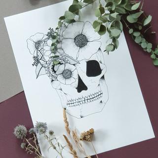 Crâne fleuris_