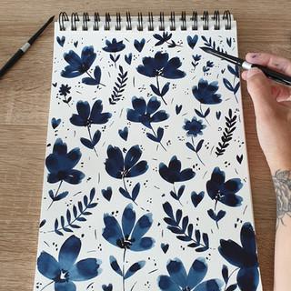 Fleurs bleures_