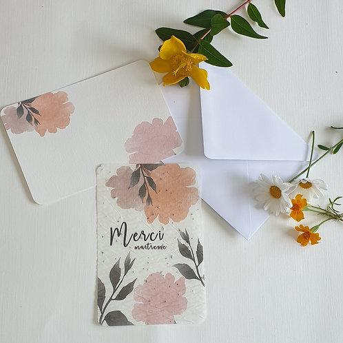 Carte à planter flowers.