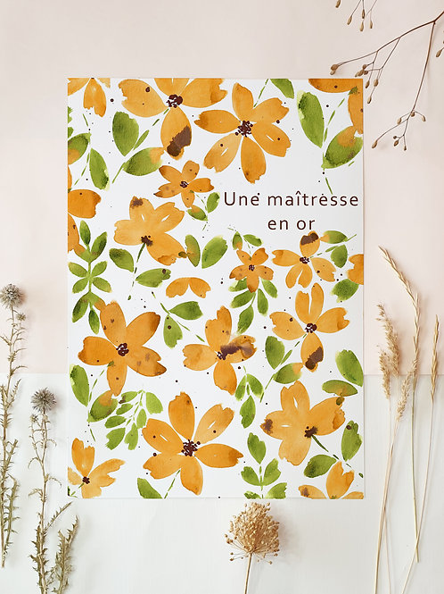 Affiche yellow flowers.