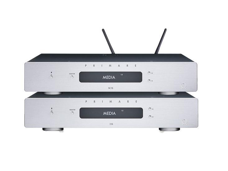 Pack Amplificateur I15 MM + Pré-amplificateur & Lecteur Réseau SC15 Prisma