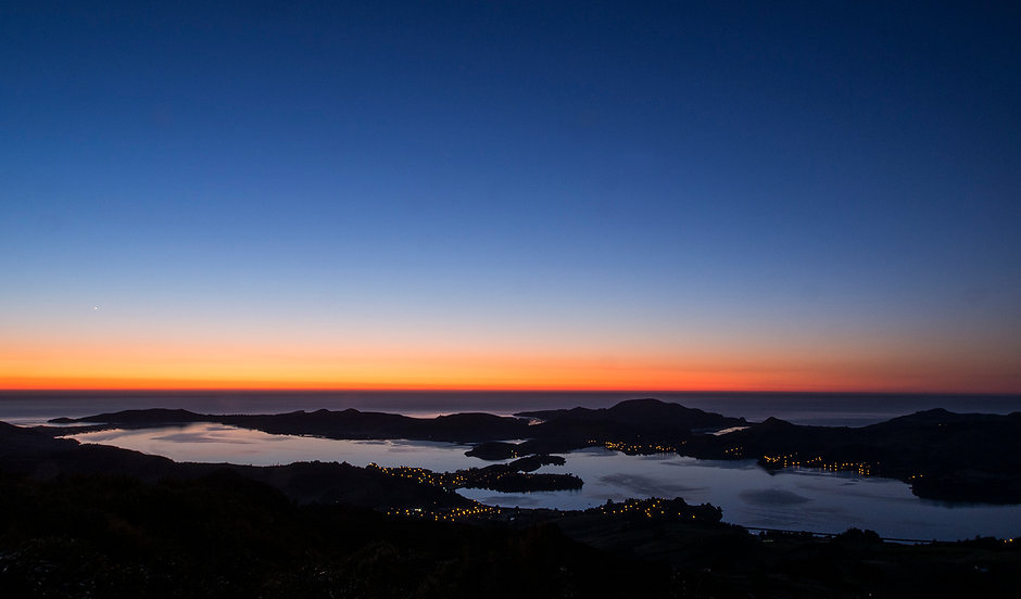 Otago Harbour and Peninsula from Mt Cargill