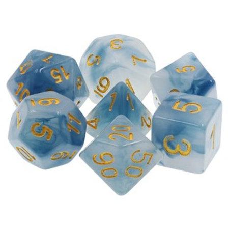 TMG Swirl Polyhedral Dice Set - Stormcaller