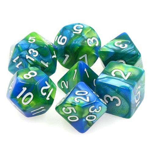 TMG Fusion Polyhedral Dice Set - Siren's Call