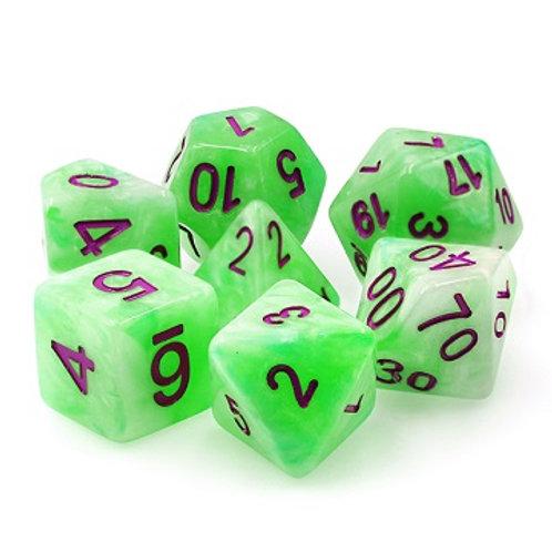 TMG Pearlized Polyhedral Dice Set - Sylvan Glade