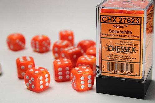 Chessex 12D6 Set Vortex Solar/White 26861