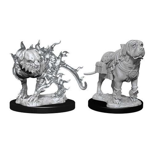 Dungeons & Dragons Nolzur's Marvelous Miniatures - Mastiff & Shadow Mastiff