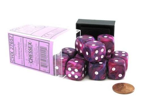 Chessex 12D6 Set Festive Violet/White 27657
