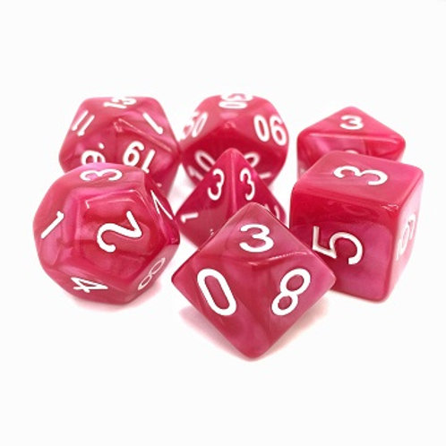 TMG Pearlized Polyhedral Dice Set - Coral Grief