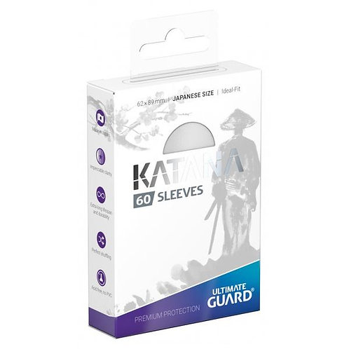Ultimate Guard - Katana Sleeves - Japanese Size - 60ct White