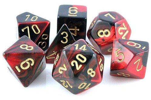 Chessex Polyhedral Set Gemini Black-Red/Gold 26433