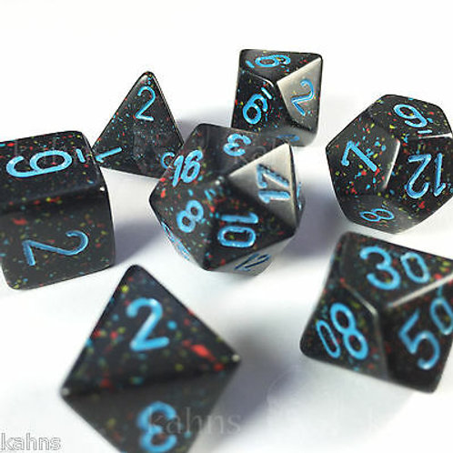 Chessex Polyhedral Set Speckled Blue Stars 25338