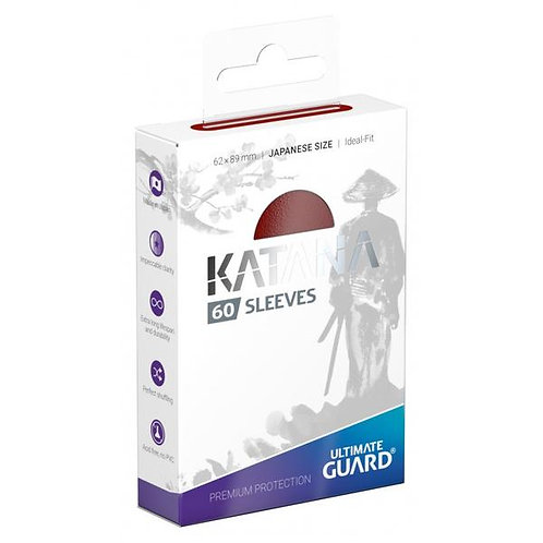 Ultimate Guard - Katana Sleeves - Japanese Size - 60ct Red