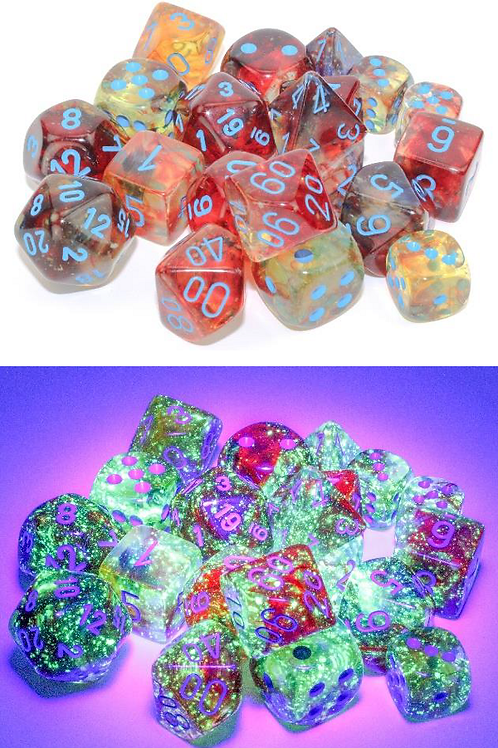 Chessex 12D6 Set Luminary Nebula Primary/Turquoise 27759
